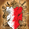 Coat of Arms skull Poster