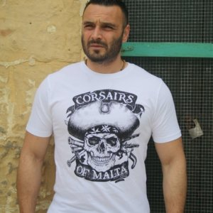 White Skull and Bones t-shirt